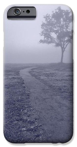 Fog Mist iPhone Cases - Into The Mist BW iPhone Case by Steve Gadomski