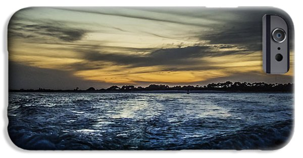 Unset iPhone Cases - Into The Night  iPhone Case by Debra Forand