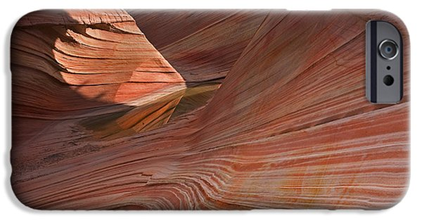 Red Rock iPhone Cases - Into the Wave iPhone Case by Mike  Dawson