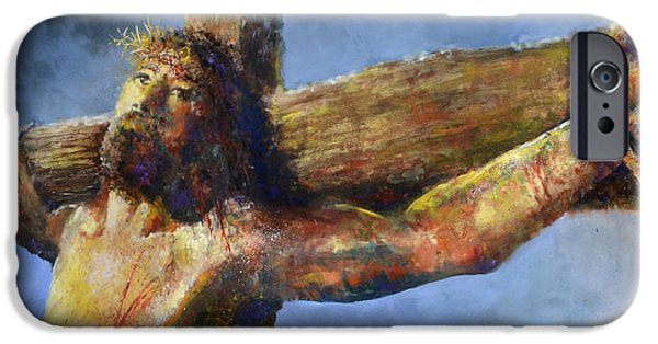 Jesus Crucifixion iPhone Cases - Into Your Hands iPhone Case by Andrew King