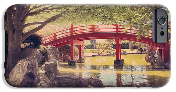Japanese Garden iPhone Cases - Into Your Loving Heart iPhone Case by Laurie Search