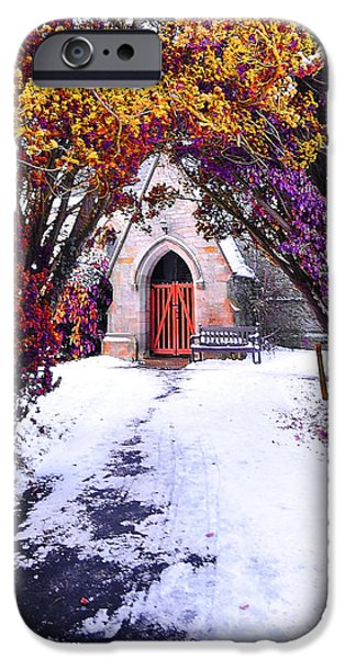 Grave Yard iPhone Cases - Invitation iPhone Case by Svetlana Sewell