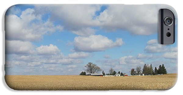 Field. Cloud iPhone Cases - Iowa 3 iPhone Case by Anita Burgermeister