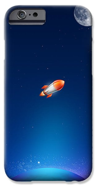 Rockets iPhone Cases - iPhone Case iPhone Case by Liliia Mandrino