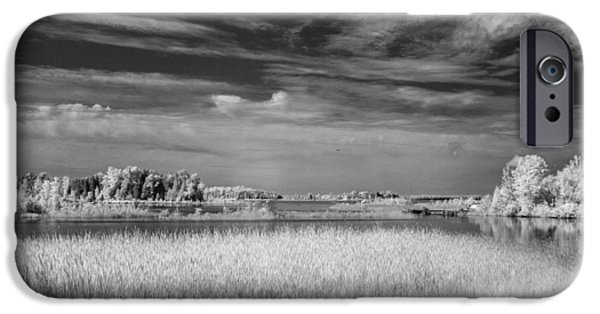 Old Barns iPhone Cases - IR Bay 1 iPhone Case by David Heilman