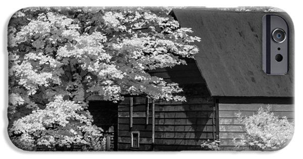 Old Barns iPhone Cases - IR Profile iPhone Case by David Heilman