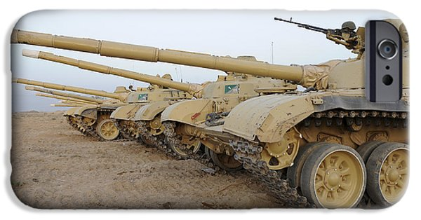 Iraq iPhone Cases - Iraqi T-72 Tanks From Iraqi Army iPhone Case by Stocktrek Images