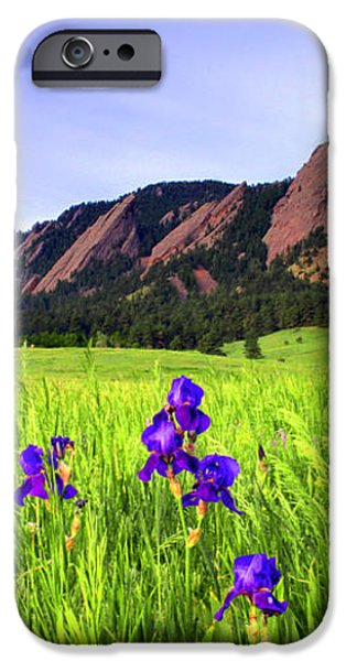 Iris and Flatirons iPhone Case by Scott Mahon