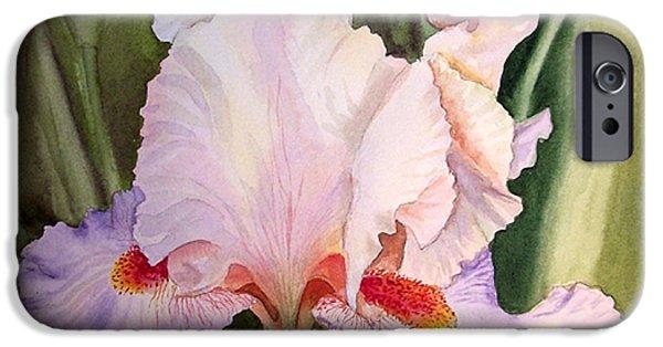 Iris iPhone Cases - Iris Flower iPhone Case by Irina Sztukowski