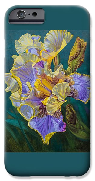Sears Tower iPhone Cases - Iris Garden 4 iPhone Case by Fiona Craig
