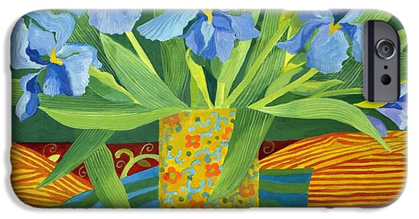 Tasteful Art iPhone Cases - Iris iPhone Case by Jennifer Abbot