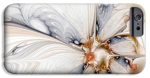 Fractals Fractal Digital Art iPhone Cases - Iris iPhone Case by Amanda Moore