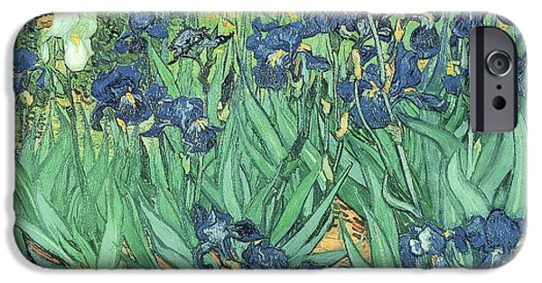 Impressionist iPhone Cases - Irises iPhone Case by Vincent Van Gogh