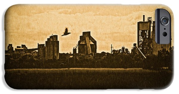 Old Digital Art iPhone Cases - Irish Cement Plant iPhone Case by Felikss Veilands