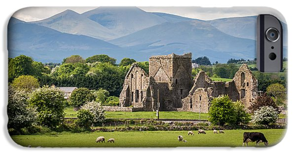 Recently Sold -  - Ruin iPhone Cases - Irish Country side iPhone Case by Pierre Leclerc Photography