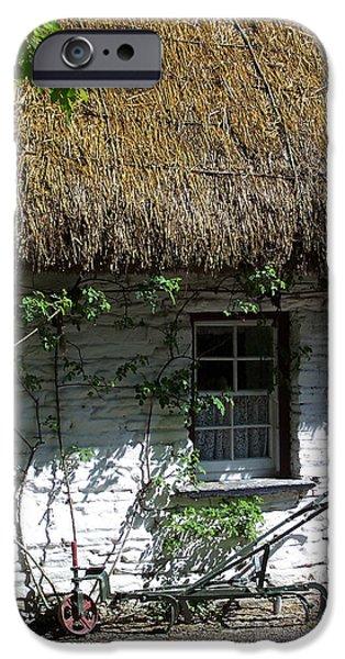 Irish Photographs iPhone Cases - Irish Farm Cottage Window County Cork Ireland iPhone Case by Teresa Mucha