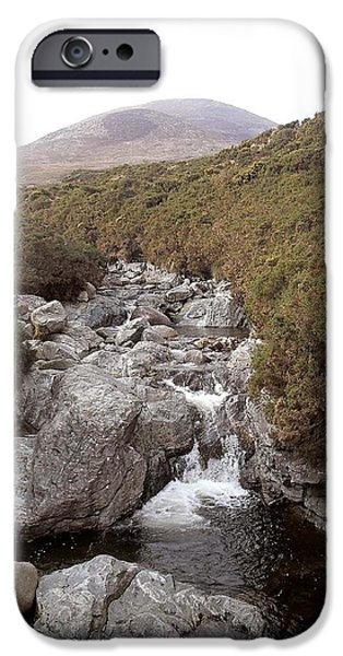 Abstract Expressionism Photographs iPhone Cases - Irish Mountain Stream iPhone Case by Patrick J Murphy