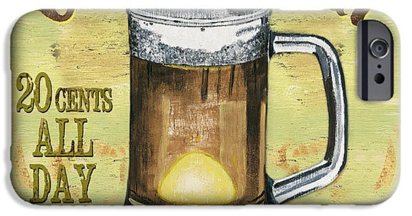 Cold Paintings iPhone Cases - Irish Pub iPhone Case by Debbie DeWitt