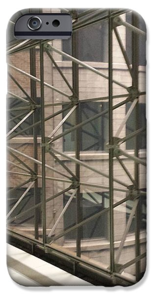 Chicago Sculptures iPhone Cases - Looking Out iPhone Case by Mea