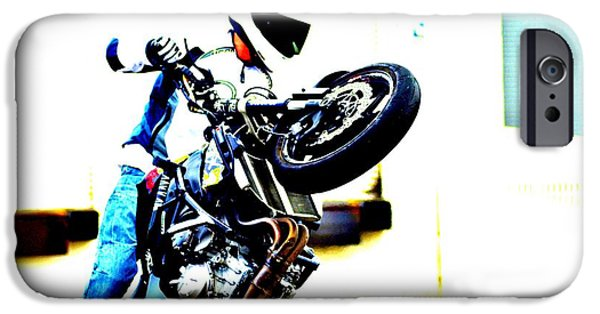 Racing iPhone Cases - Iron Horse 1 iPhone Case by Cindy Nunn