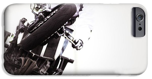 Racing iPhone Cases - Iron Horse 17 iPhone Case by Cindy Nunn