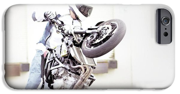 Racing iPhone Cases - Iron Horse 19 iPhone Case by Cindy Nunn