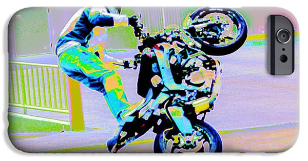 Racing iPhone Cases - Iron Horse 6 iPhone Case by Cindy Nunn