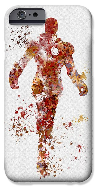 Iron iPhone Cases - Iron Man iPhone Case by Rebecca Jenkins