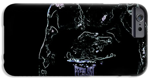 Boxer Digital Art iPhone Cases - Iron Mike iPhone Case by Brian Reaves