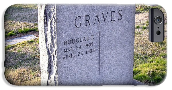 Headstones iPhone Cases - Ironic Headstone iPhone Case by Brian Wallace