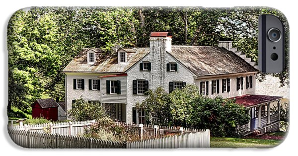 Historic Site iPhone Cases - Ironmaster Mansion at Hopewell Furnace  iPhone Case by Olivier Le Queinec