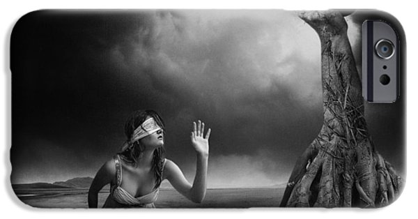 Root iPhone Cases - Is There Anybody Out There? iPhone Case by Erik Brede
