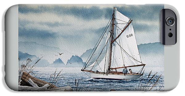 Sailing Ship Framed Prints iPhone Cases - Island Dreams iPhone Case by James Williamson