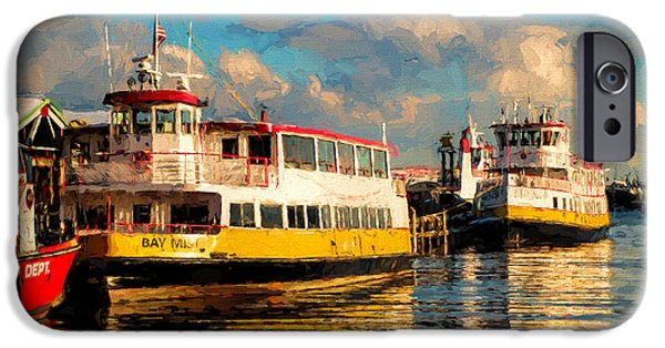 Recently Sold -  - Maine iPhone Cases - Island Ferries Portland Maine iPhone Case by Gary Nelson