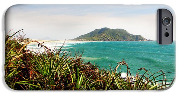 Beach Landscape Tapestries - Textiles iPhone Cases - Island Hills iPhone Case by James Hennis