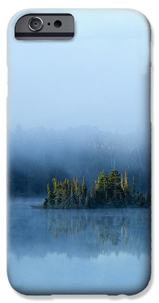 Mist iPhone Cases - Island in the fog iPhone Case by Joe Miller