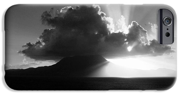 Balck Art iPhone Cases - Island Sunrise 2  iPhone Case by Perry Webster