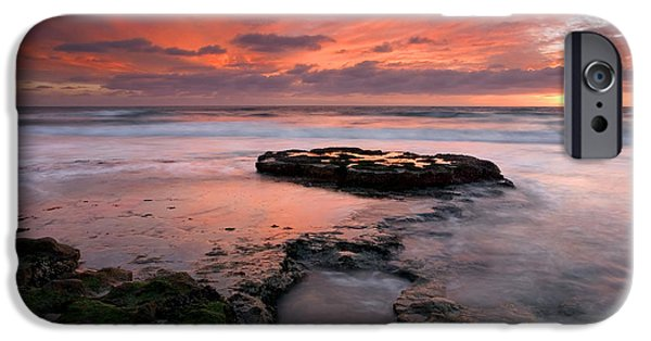 Ocean Sunset iPhone Cases - Isle of the Setting sun iPhone Case by Mike  Dawson