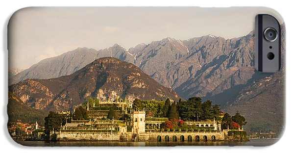 Photographs Tapestries - Textiles iPhone Cases - isola Bella lake maggiore iPhone Case by Marco Arduino