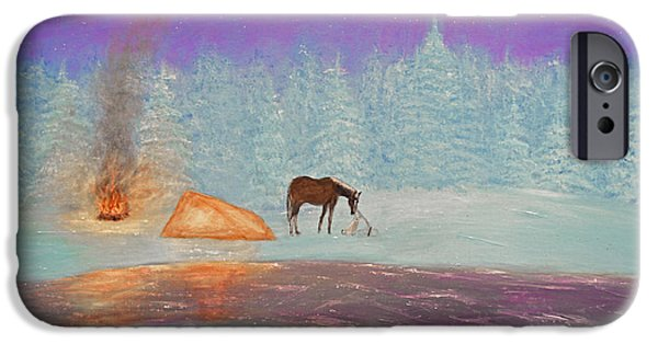 Park Scene Paintings iPhone Cases - Isolation iPhone Case by Ken Figurski
