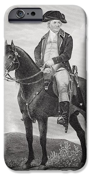 American Revolution iPhone Cases - Israel Putnam 1718 - 1790. Army Officer iPhone Case by Ken Welsh