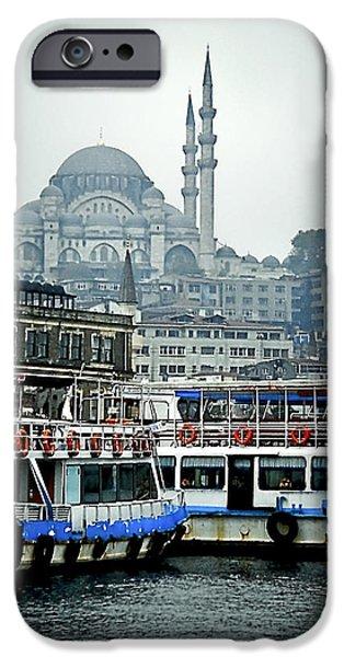 Pleasure iPhone Cases - Istanbu shipl wharf iPhone Case by Natalia Shcherbakova
