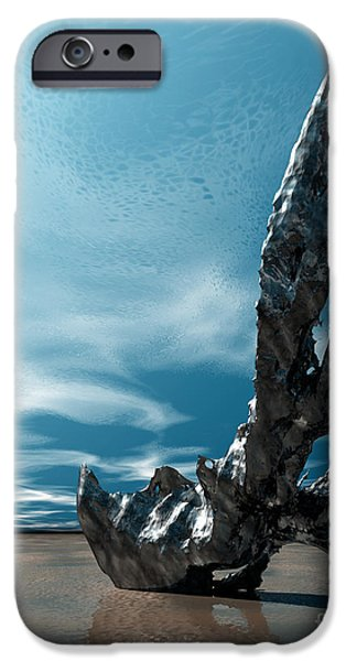 Surreal Landscape iPhone Cases - It Fell to Earth iPhone Case by Sandra Bauser Digital Art