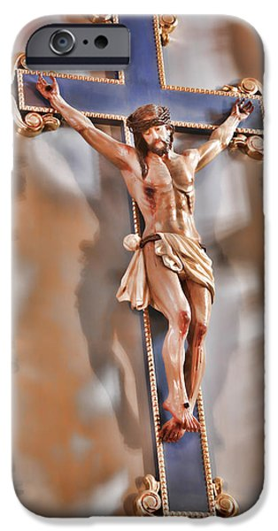 Atonement iPhone Cases - It Is Finished - Mission San Jose iPhone Case by Stephen Stookey