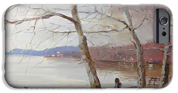 Hudson River iPhone Cases - It Looks like Rain iPhone Case by Ylli Haruni