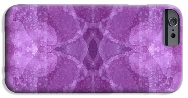 Abstract Design Tapestries - Textiles iPhone Cases - It Was A Rose iPhone Case by Suzi Freeman