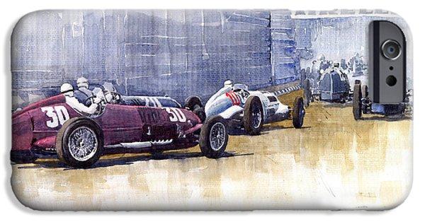 Racingcars iPhone Cases - Italian GP1937 Livorno  iPhone Case by Yuriy  Shevchuk