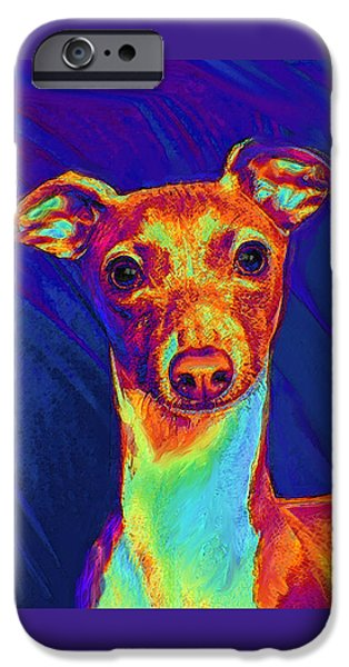 Best Sellers -  - Puppy Digital iPhone Cases - Italian Greyhound  iPhone Case by Jane Schnetlage