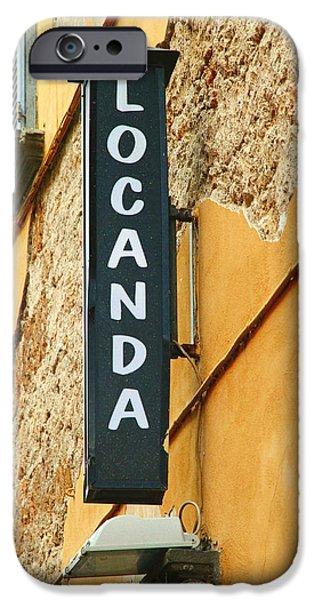 Local Food iPhone Cases - Italian Locanda iPhone Case by Valentino Visentini