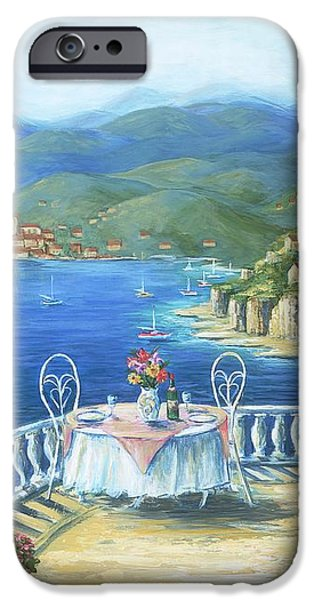 Italian Lunch On The Terrace iPhone Case by Marilyn Dunlap